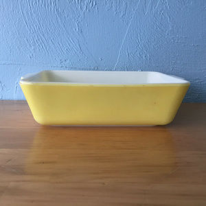 Vintage Pyrex Primary 503 Refrigerator Dish Yellow